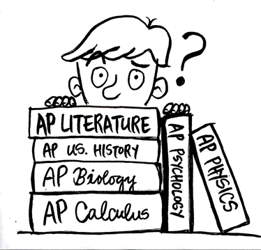 Image of Student on Advanced Placement Books