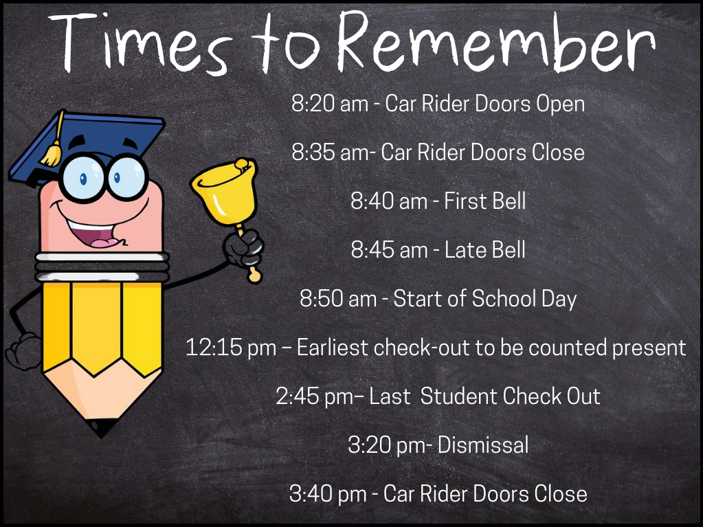 image of bell schedule