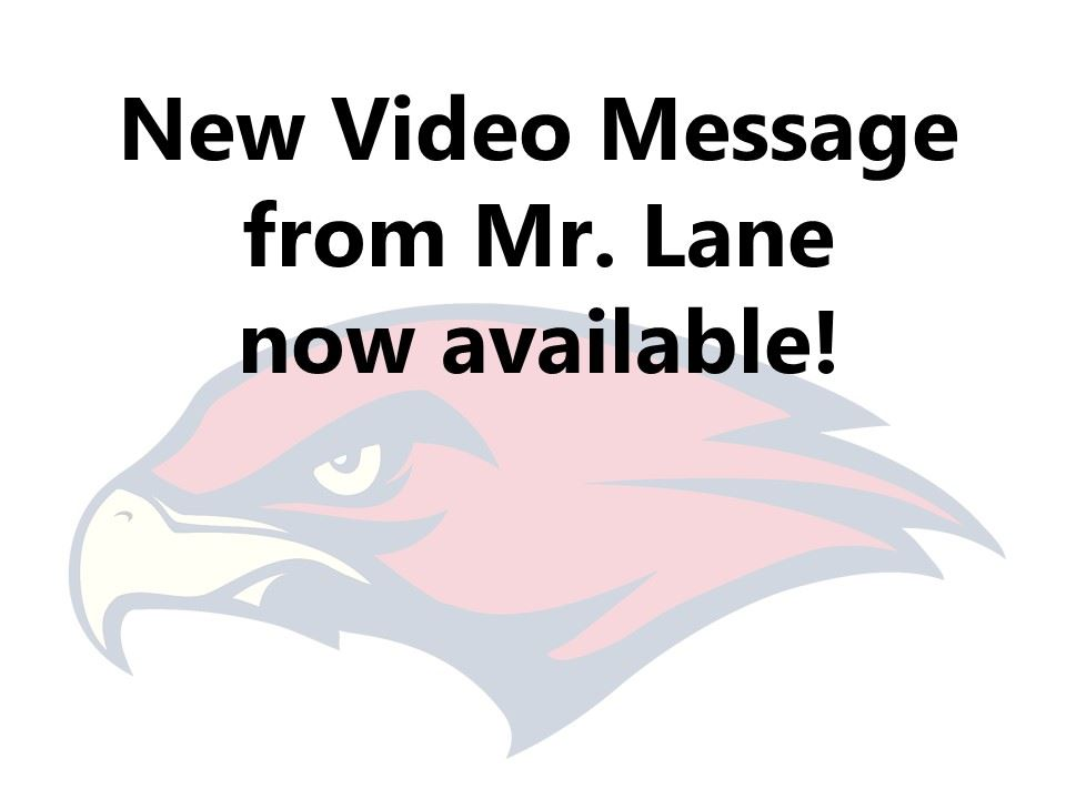 New video message from Mr. Lane
