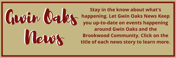 gwin oaks news. Click on title to learn details of events.